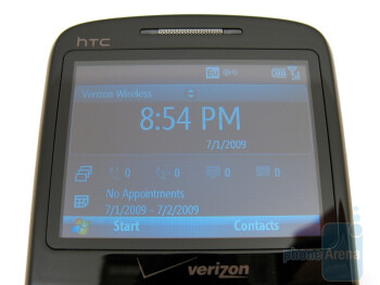 "The 2.4"" display - HTC Ozone XV6175 Review"