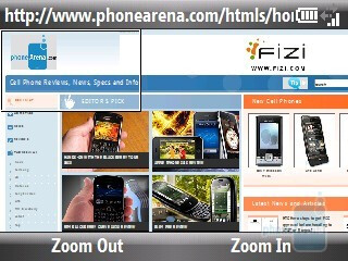 The browser of HTC Ozone XV6175 - HTC Ozone XV6175 Review