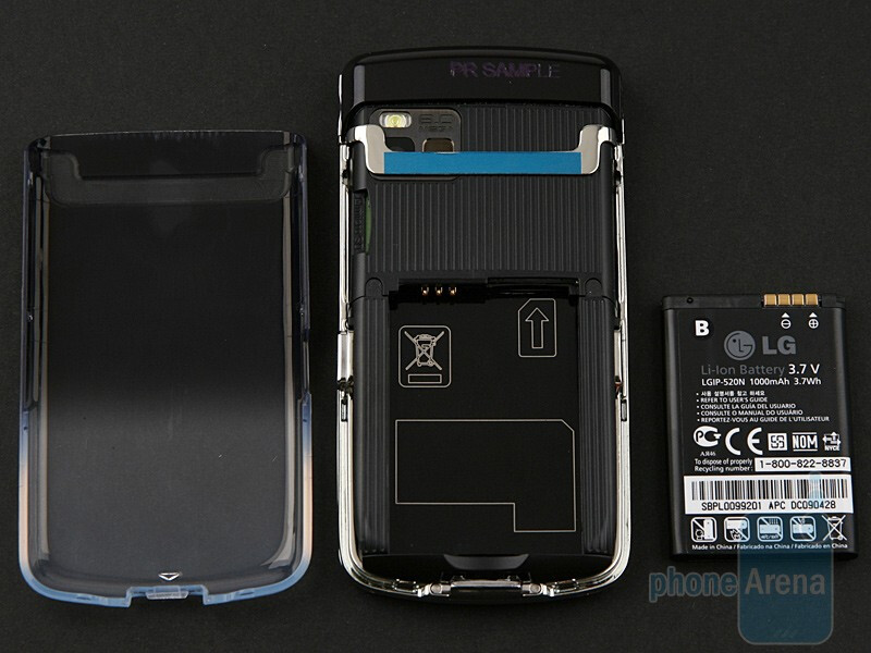 The back cover of LG Crystal GD900 - LG Crystal GD900 Review