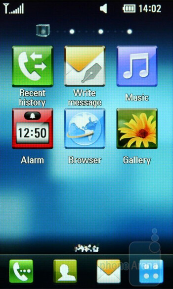 The four home screens of LG Crystal GD900 - LG Crystal GD900 Review