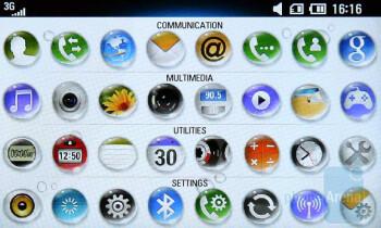 The main menu of LG Crystal GD900 - LG Crystal GD900 Review