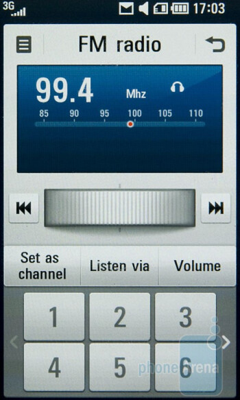FM radio - LG Crystal GD900 Review