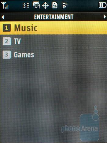 Entertainment - LG LX370 Review