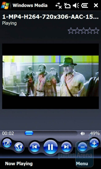 Image artifacts appearat greater resolutions - Windows Media Player - Acer F900 Review