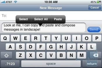 The on-screen keyboard of the iPhone 3GS - Palm Pre and Apple iPhone 3GS: side by side