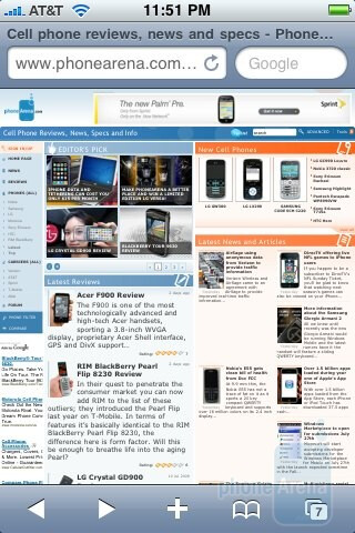 The iPhone 3GS have a very similar browsing experience - Palm Pre and Apple iPhone 3GS: side by side