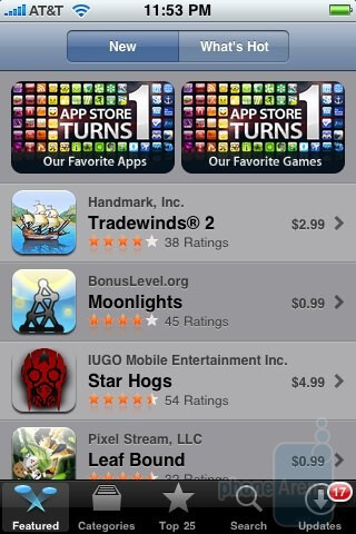 Apple App Store - Palm Pre and Apple iPhone 3GS: side by side