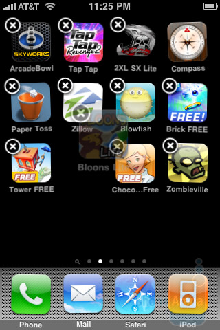 iPhone 3GS - Arranging the applications - Palm Pre and Apple iPhone 3GS: side by side