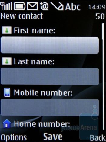 Contacts - Nokia 6700 classic Review