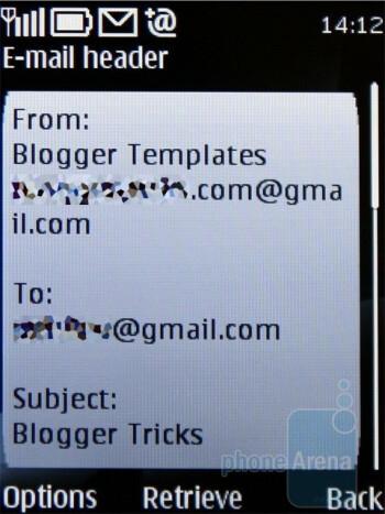 E-mail client - Nokia 6700 classic Review