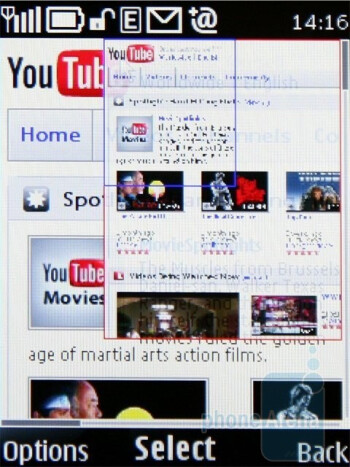 minimap - The Show miniature option in the browser of Nokia 6700 classic is handy - Nokia 6700 classic Review