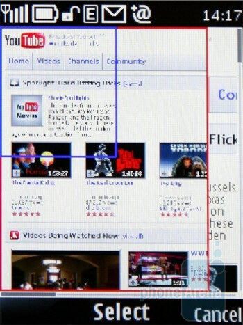miniature - The Show miniature option in the browser of Nokia 6700 classic is handy - Nokia 6700 classic Review