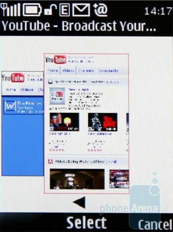 History - The Show miniature option in the browser of Nokia 6700 classic is handy - Nokia 6700 classic Review