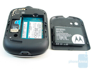 Battery and card slots on the back - Motorola Karma QA1 Review