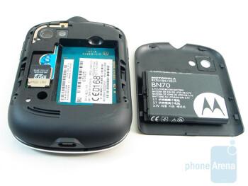 Battery and card slots on the back - Motorola Karma QA1 Review