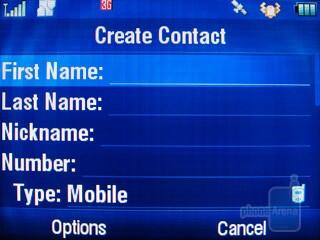 Contacts - Motorola Karma QA1 Review