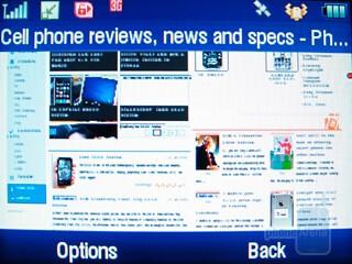 The Web capabilities of Motorola Karma QA1 - Motorola Karma QA1 Review