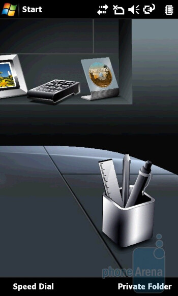 The Acer Shell interface of the Acer M900 - Acer M900 Review