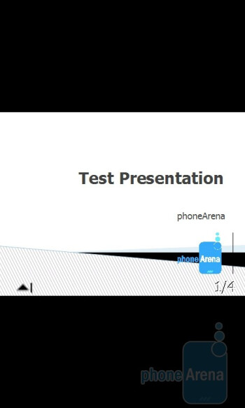 PowerPoint - Working with office documents on the Acer M900 - Acer M900 Review