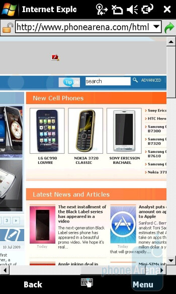 Acer M900 is equipped with Internet Explorer 6 - Acer M900 Review