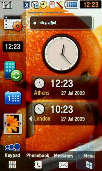 The three start screens of Samsung Jet S8000 - Samsung Jet S8000 Review