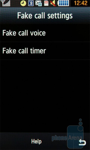 Samsung Jet S8000 has a Fake call function - Samsung Jet S8000 Review