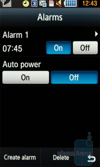 Alarms - Samsung Jet S8000 Review
