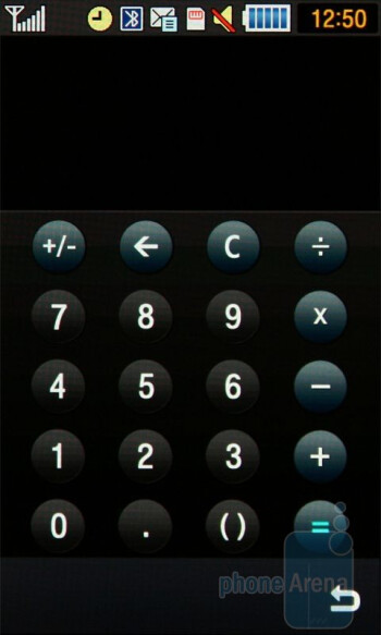 Calculator - Samsung Jet S8000 Review
