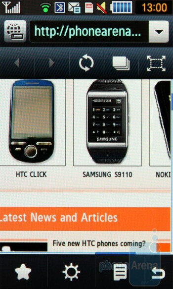 The internet browser of Samsung Jet S8000 is a WebKit based app, called 'Dolfin' - Samsung Jet S8000 Review