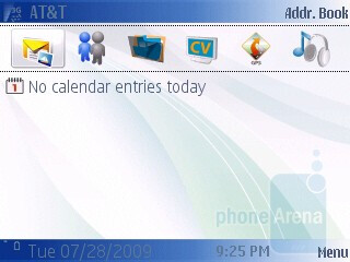 Home screen - Nokia 6790 Surge Review