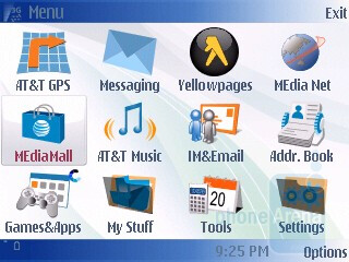 Main menu - Nokia 6790 Surge Review