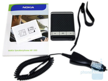 The package of the Nokia Speakerphone HF-300 - Nokia Speakerphone HF-300 Review