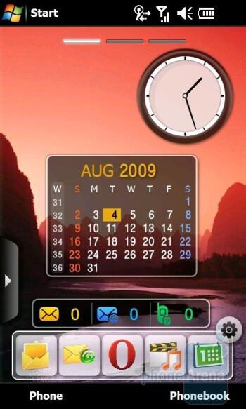 The Home screens of Samsung Omnia II I8000 - Samsung Omnia II I8000 Review
