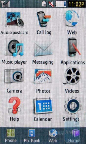 Main menu - Samsung Highlight T749 Review