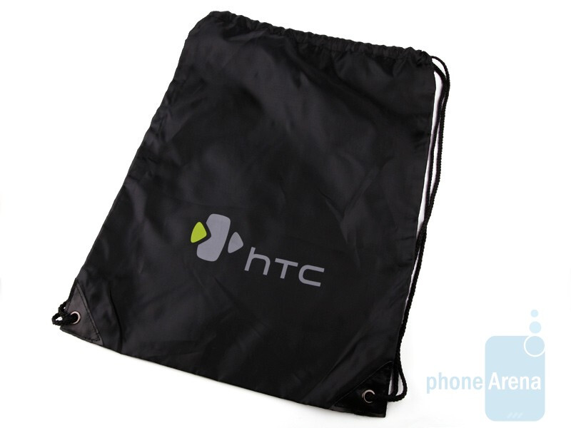 The HTC Hero comes in a bagwith the company's logo - HTC Hero Review