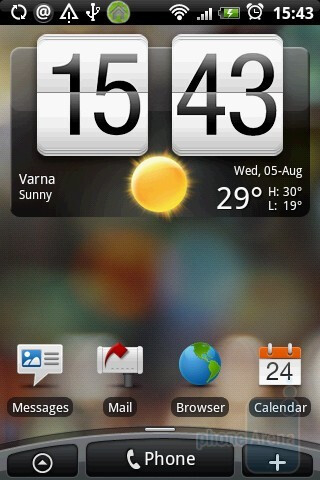 Home screen - HTC Hero Review
