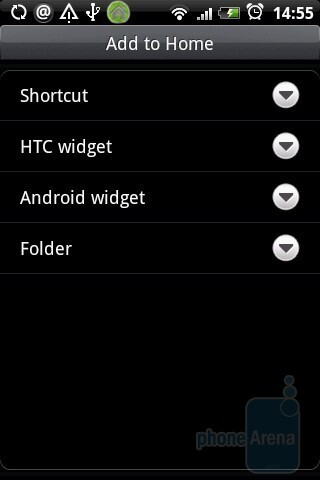 Customizing the home screen through widgets - HTC Hero Review