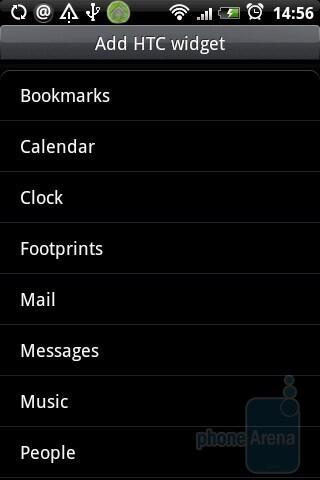 Customizing the home screen through widgets - HTC Hero Review