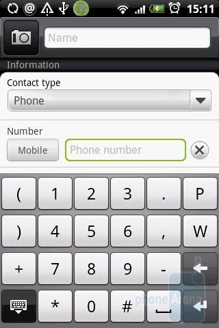 The phonebook of HTC Hero - HTC Hero Review