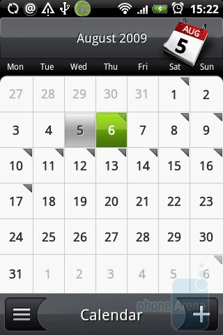 The calendar of HTC Hero - HTC Hero Review