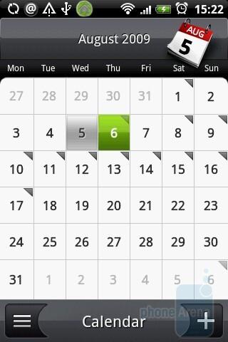 The calendar of HTC Hero - HTC Hero Review