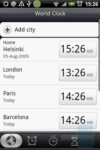 World clock - HTC Hero Review