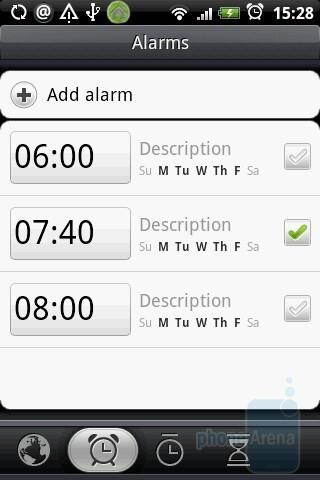 Alarms - HTC Hero Review
