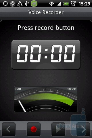 Voice recording app - HTC Hero Review
