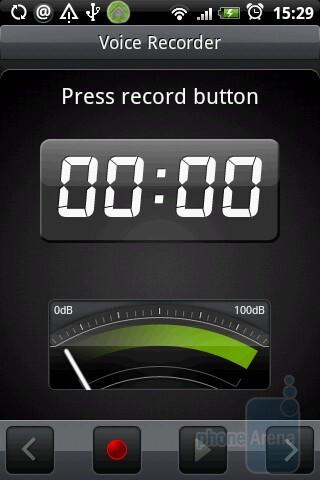 Voice recording app - HTC Hero Review