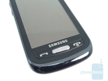 The three buttons on front of Samsung Solstice A887 - Samsung Solstice A887 Review