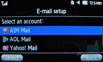 We were pleased with the email client - Samsung Comeback T559 Review