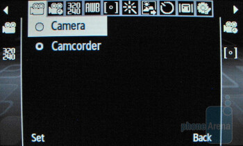 Camera interface - Samsung Comeback T559 Review