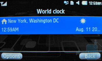 World clock - Samsung Comeback T559 Review