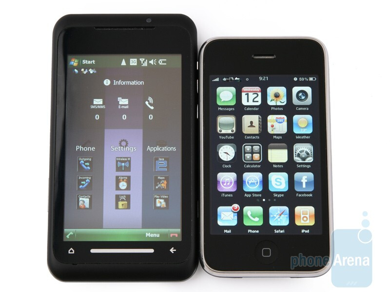 Toshiba TG01 compared with Apple iPhone 3G - Toshiba TG01 Review